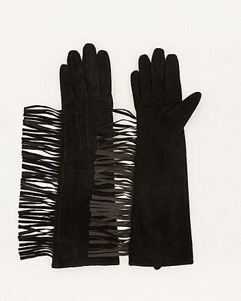 Suede Fringe Glove