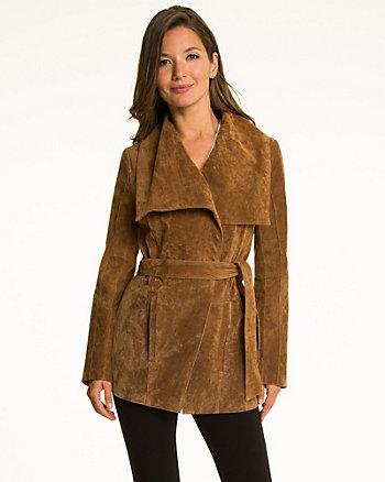 Suede Belted Jacket