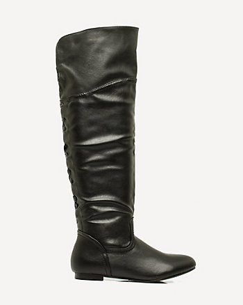 Leather-Like Over-the-Knee Boot
