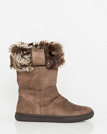Suede-Like Mid Calf Boot