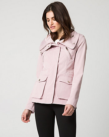 Cotton Blend Funnel Collar Anorak
