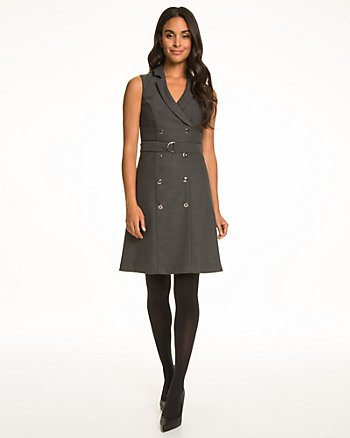 Viscose Blend V-Neck Shirtdress