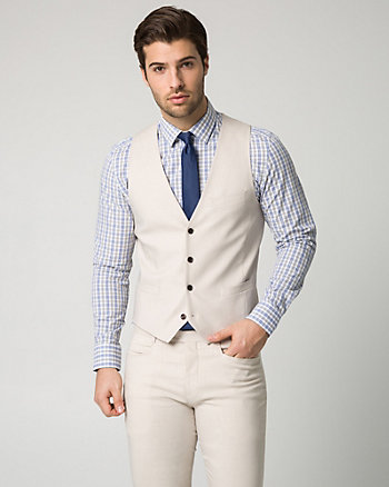 Two-Tone Twill City Fit Vest