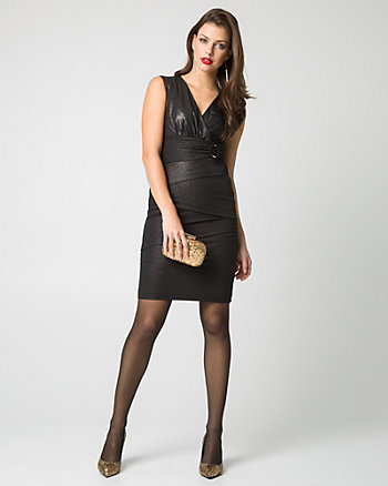 Knit V-Neck Dress