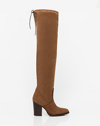 Italian-Made Suede-Like Over-the-Knee Boot
