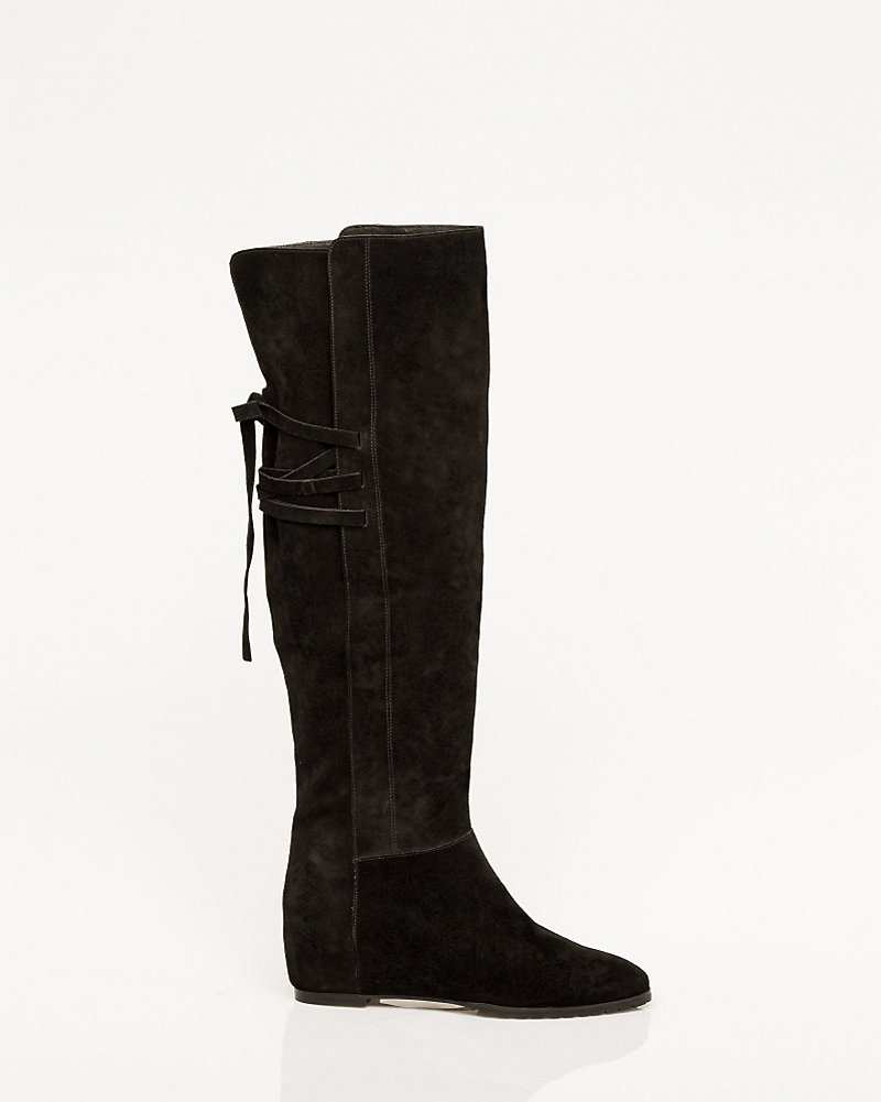 6f2ec560670 Suede Concealed Wedge Over-the-Knee Boot