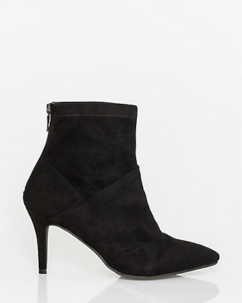 Suede-Like Pointy Toe Ankle Boot
