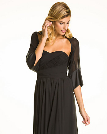Chiffon Satin Cover Up