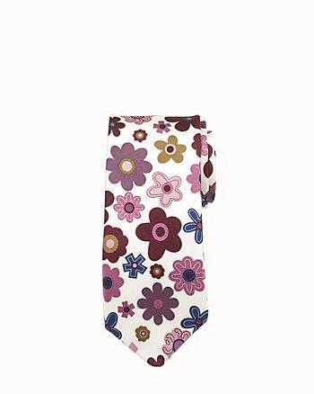 Floral Silk Skinny Tie