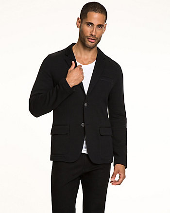 French Terry Slim Fit Blazer