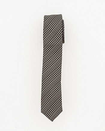 Plaid Silk Skinny Tie
