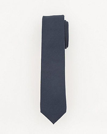 Tonal Viscose Blend Skinny Tie