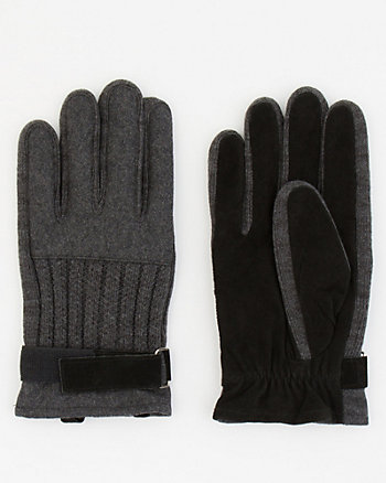 Suede & Acrylic Gloves