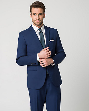 Twill Notch Collar Contemporary Fit Blazer