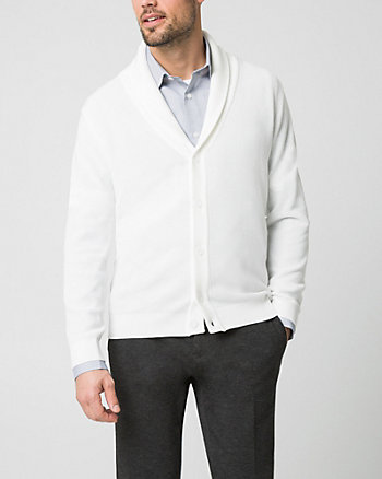 Yarn Shawl Collar Cardigan