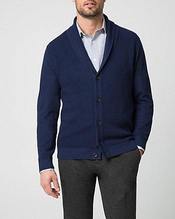 Cardigan en tricot à col châle