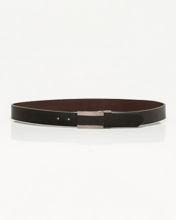 Leather & Metal Plaque Belt