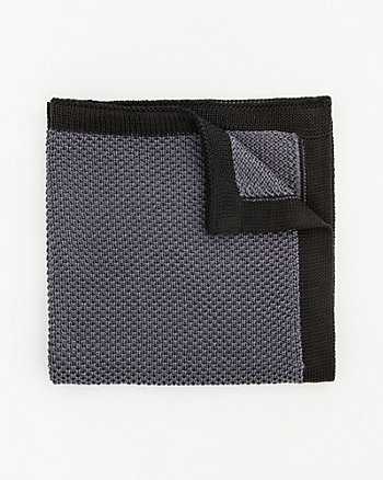 Knit Colour Block Pocket Square
