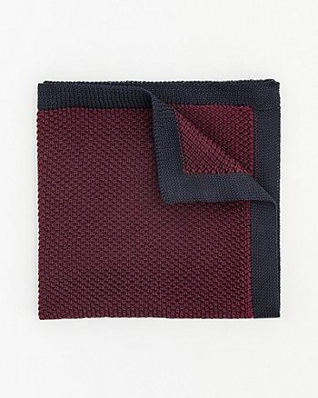 Knit Colour Block Pocket Square
