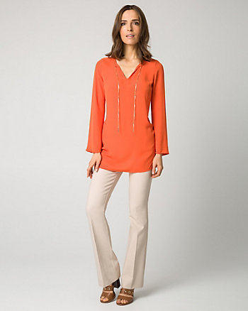 Crêpe de Chine V-Neck Tunic