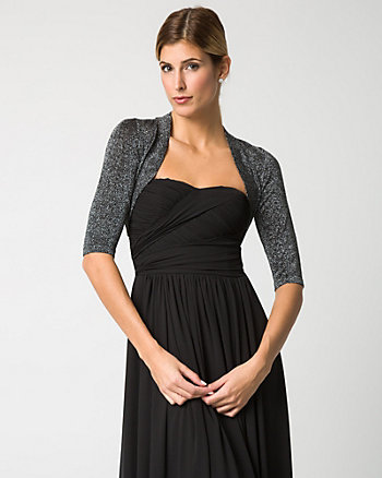 Lurex Open-Front Shrug