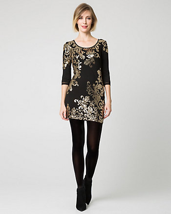 Paisley Sequin Knit Tunic