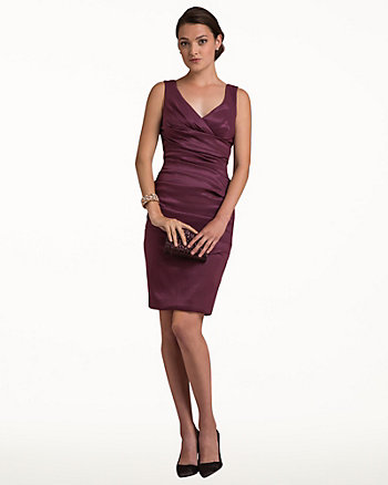 Cotton Poplin V-Neck Dress