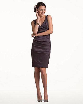 Cotton Poplin V-Neck Dress