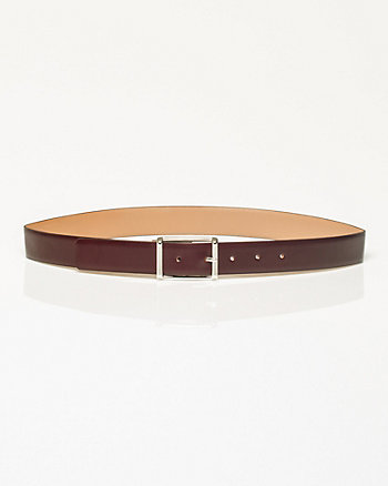 Leather Prong Buckle Belt