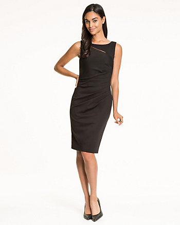 Ponte Cutout Shift Dress