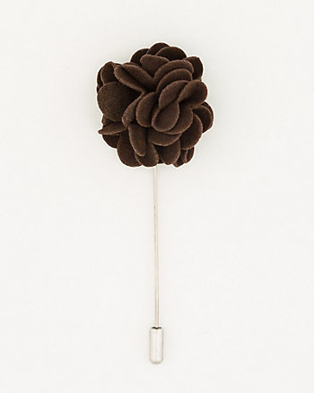 Suede Floral Lapel Pin