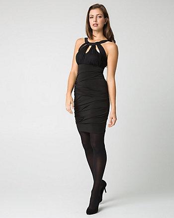 Knit Cutout Mini Dress