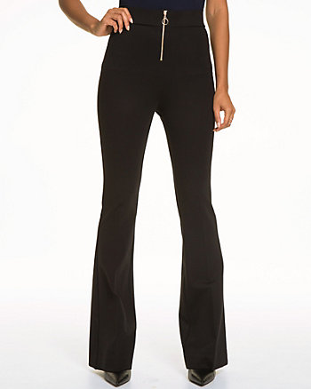 Double Knit High Waisted Flare Leg Pant