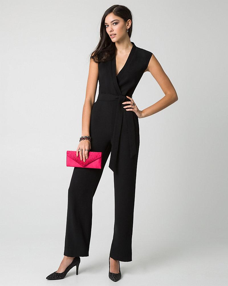 le ch acirc teau jumpsuits tricoteen wide leg jumpsuit