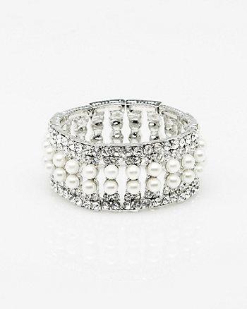 Gem & Pearl-Like Bracelet