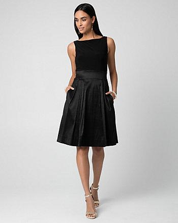 Taffeta Full Skirt Cocktail Dress