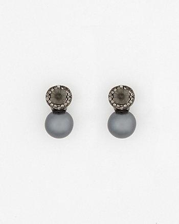Gem & Pearl-Like Earrings