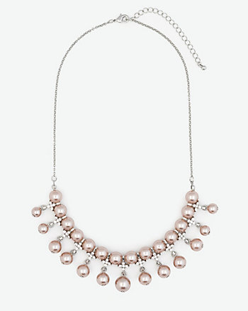 Gem & Pearl-Like Necklace