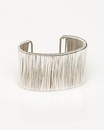 Wire Wrapped Metal Open Cuff