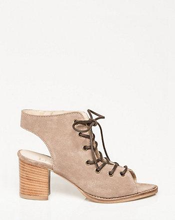 Italian-Made Suede Ghillie Tie Sandal