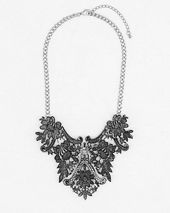 Metal Filigree Bib Necklace
