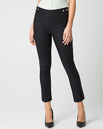 Cotton Skinny Leg Crop Pant