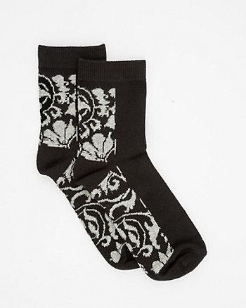 Flower Print Bamboo Blend Sock