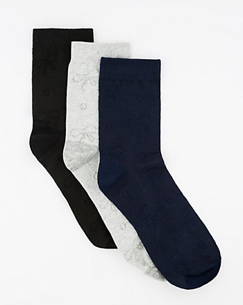 Trio of Bamboo Blend Ankle Socks