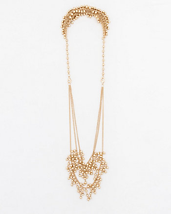 Front & Back Metal Necklace