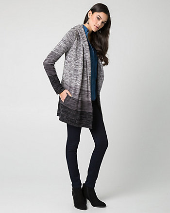 Mélange Cotton Sweater Coat