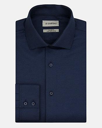 Chemise à motif en mélange de coton