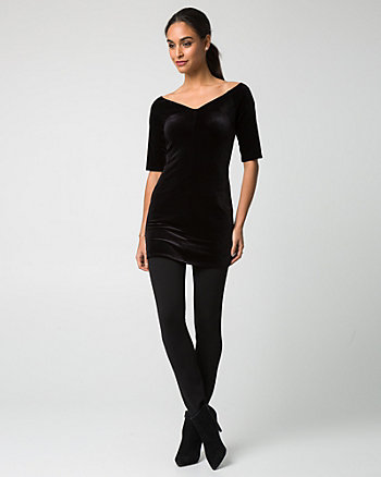 Velvet V-Neck Tunic Top