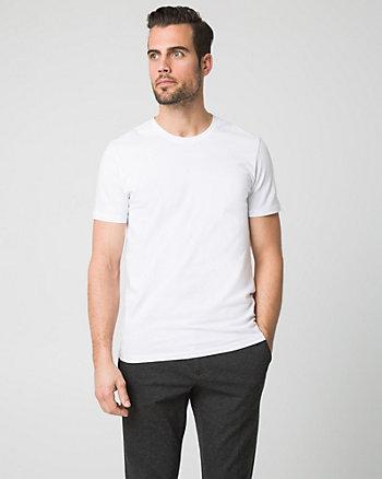 Cotton Blend Crew Neck T-Shirt