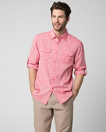 Cotton Slub Tailored Fit Shirt